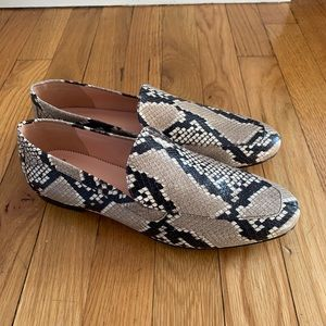 J.Crew snakeskin leather loafers